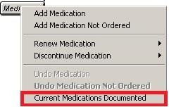 medications not documented