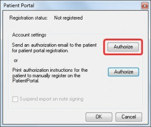 PatientPortal_Authorize(email)